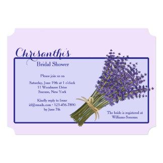 Lavender Bouquet Invitation