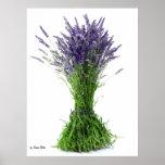 Lavender bouquet poster