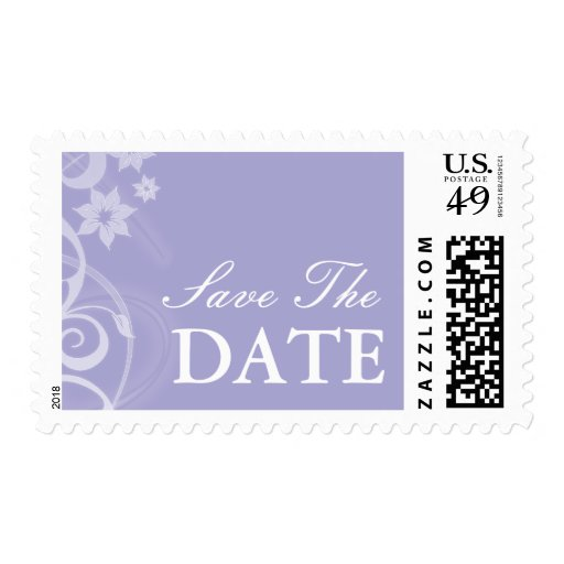 Lavender Branch Wedding Save The Date Postage Stamps