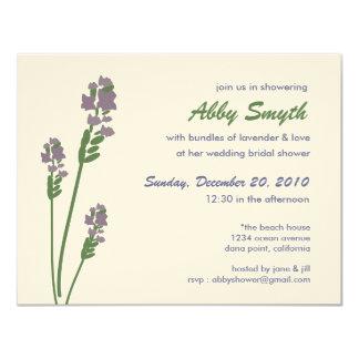 Lavender Bridal or Baby Shower 4.25x5.5 Paper Invitation Card