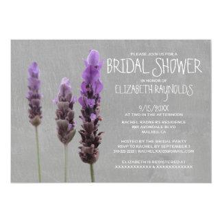 "Lavender Bridal Shower Invitations 5"" X 7"" Invitation Card"