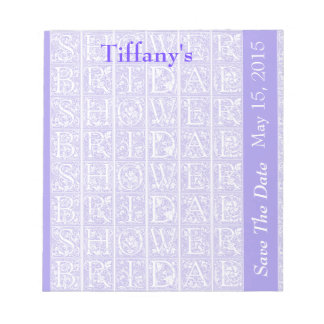 Lavender Bridal Shower Save The Date Notepads
