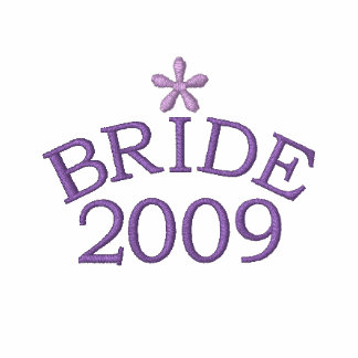 Lavender Bride 2009 Customizable Embroidered Hoodies