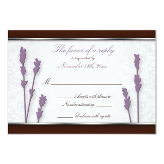 Lavender & Brown Wedding Reply Cards