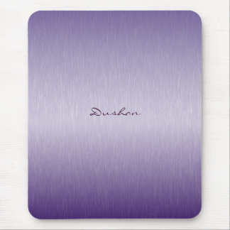 Lavender Brushed Metal Mouse Pad