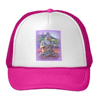 lavender buddha trucker hat