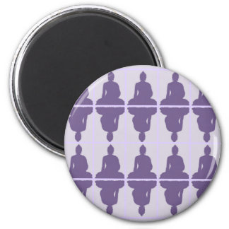 Lavender Buddha Magnet