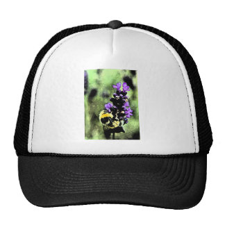Lavender Bumblebee Fresco Mesh Hats