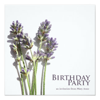 Lavender Bunch | Birthday Party Invitations