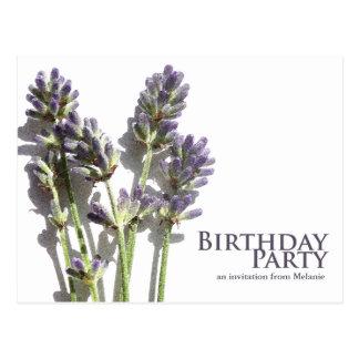 Lavender Bunch   Birthday Party Invite Postcards
