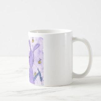 Lavender Bunny Mug by Peppermint Art