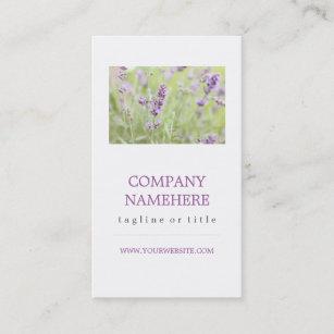 Scented business cards templates zazzle lavender business card colourmoves