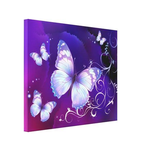 Lavender Butterflies Canvas