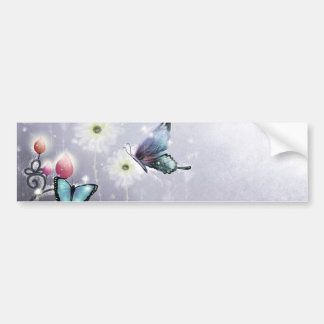 Lavender Butterfly Abstract Bumper Sticker