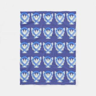 Lavender Cancer Awareness Ribbon Fleece Blankets