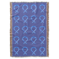 Lavender Cancer Awareness Ribbon Throw Blankets
