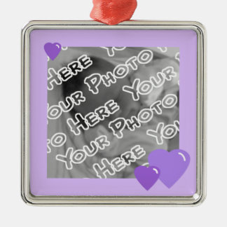 Lavender Candy Hearts Ornament
