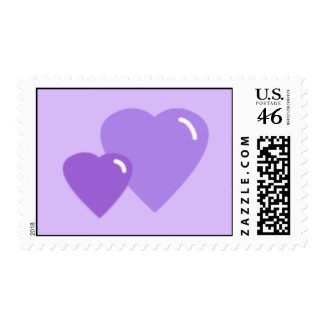 Lavender Candy Hearts Postage Stamps stamp