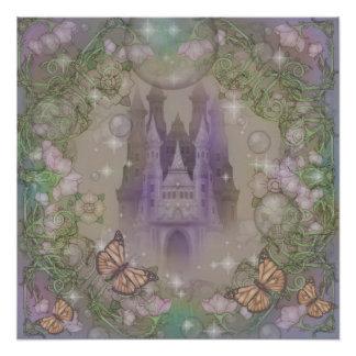 Lavender castle poster