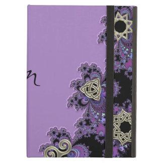 Lavender Celtic Symbol Fractal Monogram iPad Air Cases