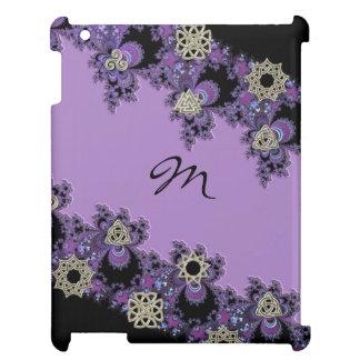 Lavender Celtic Symbol Fractal Monogram iPad Case