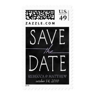 Lavender Chalkboard Save the Date Postage Stamp