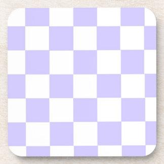 Lavender Checkered Beverage Coaster