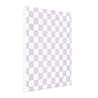 Lavender Checkered Pattern Canvas Print