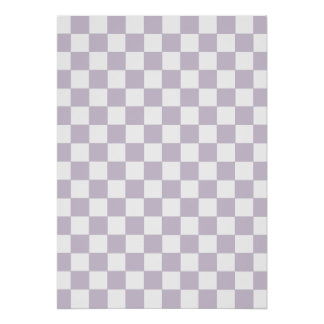Lavender Checkered Pattern Poster