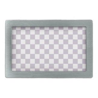 Lavender Checkers Rectangular Belt Buckle