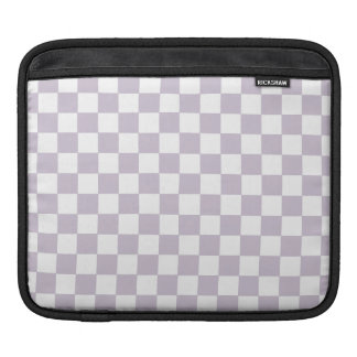 Lavender Checkers Sleeves For iPads