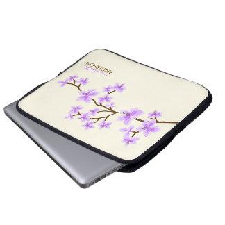 Lavender Cherry Blossoms Tree Laptop Sleeve