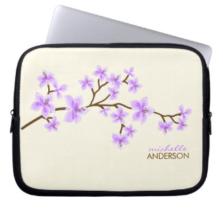 Lavender Cherry Blossoms Tree Laptop Sleeves