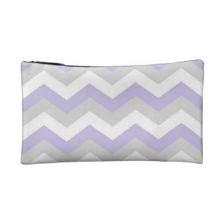 Lavender Chevron Cosmetic Bag