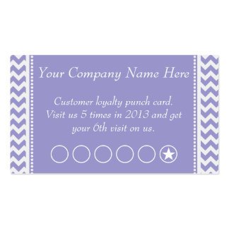 Lavender Chevron Discount Promotional Punch Card Business Cards