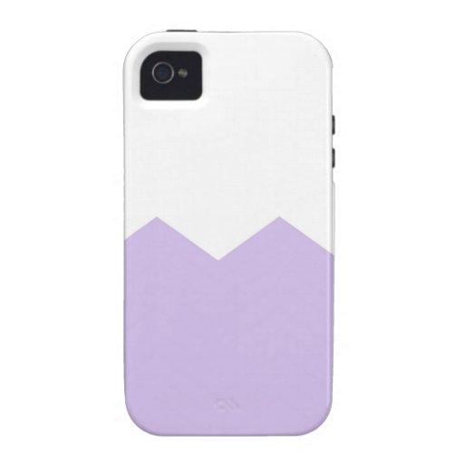 lavender chevron part iPhone 4/4S cover