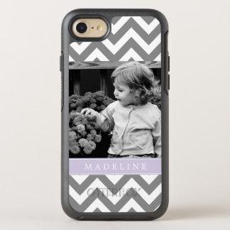 Lavender Chevron Stripes Photo Frame OtterBox Symmetry iPhone 8/7 Case