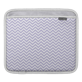 Lavender Chevron Zigzag Stripes iPad Sleeve