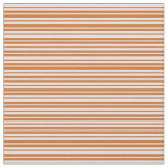 [ Thumbnail: Lavender & Chocolate Lines Pattern Fabric ]