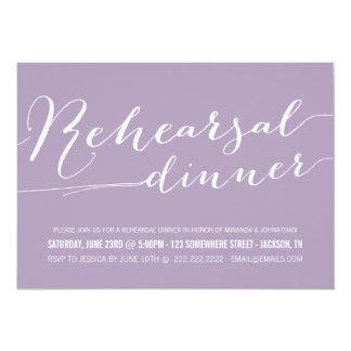 Lavender Classy Rehearsal Dinner Invitations