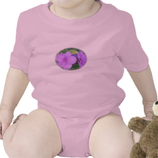 Lavender Close-up Impatiens in Swirl Baby Bodysuits