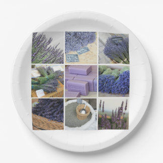 Lavender Collage by ProvenceProvence 9 Inch Paper Plate