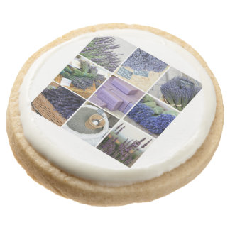 Lavender Collage by ProvenceProvence Round Premium Shortbread Cookie