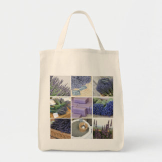 Lavender Collage Tote Bag