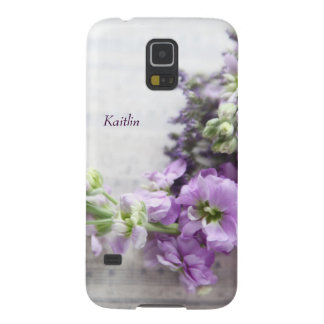 Lavender-colored flowers on old music cases for galaxy s5