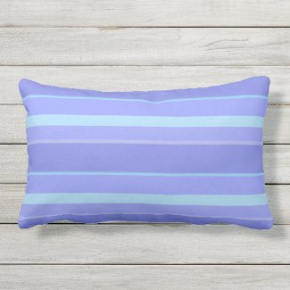 Lavender Cool Stripe Outdoor Lumbar Pillow