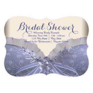 Lavender Corset Bridal Shower Card