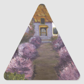 Lavender Cottage Triangle Sticker