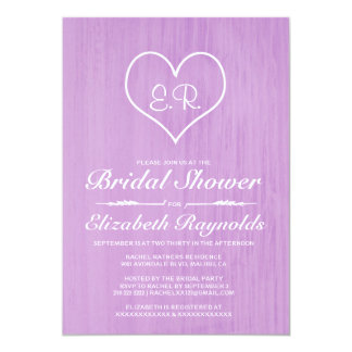 Lavender Country Bridal Shower Invitations