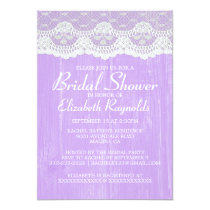 Lavender Country Lace Bridal Shower Invitations Personalized Invites